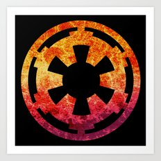 Star Wars Imperial Explosion Art Print