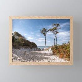 Entrance to the Sea - Ocean Beach Trees Framed Mini Art Print
