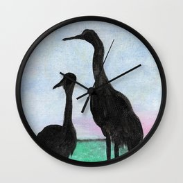 Herons on the Bay Wall Clock