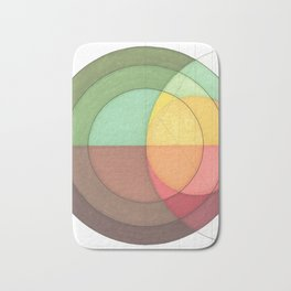 Concentric Circles Forming Equal Areas Bath Mat