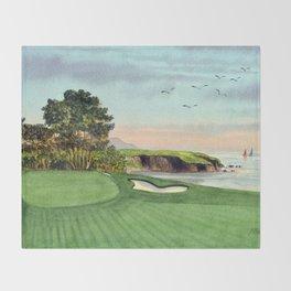 Pebble Beach Golf Course 5th Hole Throw Blanket
