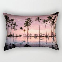 Pastel Sunset Palms Rectangular Pillow
