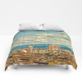 Duomo in Florence Skyline Comforters