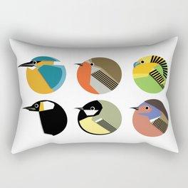 9 round birds Rectangular Pillow
