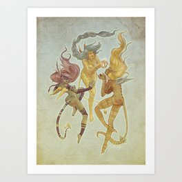 Anges tribals Art Print