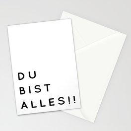 Du bist Alles!! - Minimalistische Typographie Stationery Cards