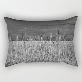 Cattails and reeds in the marsh Rectangular Pillow