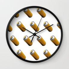 Golden Spray Can Pattern Wall Clock