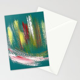 Cosmic blue turquoise Stationery Cards