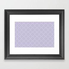 Quatrefoil - Lavender Framed Art Print