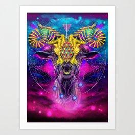 Cosmic GOAT Art Print