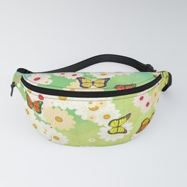 Daisies and butterflies Fanny Pack
