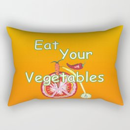 Vegetable Kitchen Decor Rectangular Pillow