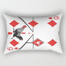Clipped Wings Deck: The Six of Diamonds Rectangular Pillow