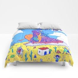 Adelita Y El Pueblo de Calaveras Comforters