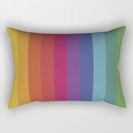 The Color Wheel / Rainbow Stripes Rectangular Pillow