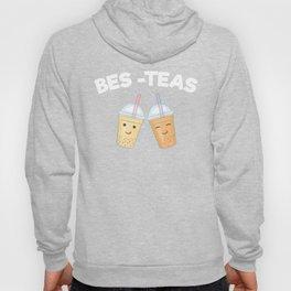 Bes Teas Bestfriend Forever, Best of Friends Siblings Partners Besties Bubble Tea Boba Hoody