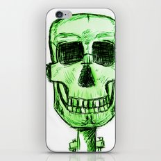 Frankenskull - Original Pen Ink Sketch iPhone & iPod Skin