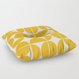 Mid Century Modern Geometric 04 Yellow Floor Pillow