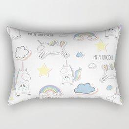 I am a Unicorn Rectangular Pillow