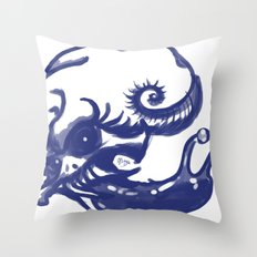 Slug skull Throw Pillow