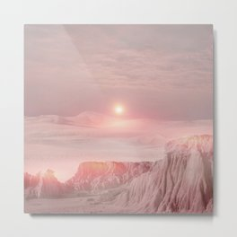 Pastel desert Metal Print