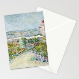 Vegetable Gardens at Montmartre by Vincent van Gogh Stationery Cards