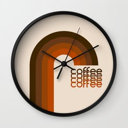 Cocoa Coffee Rainbow Wall Clock