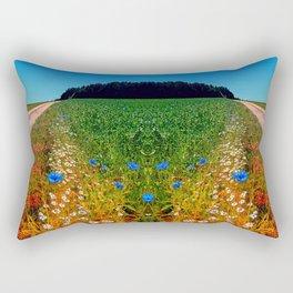 Summer flowers along the trail Rectangular Pillow