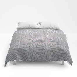 Silver Spiral Diamond Pattern Comforters