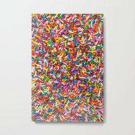 Rainbow Sprinkles Sweet Candy Colorful Metal Print