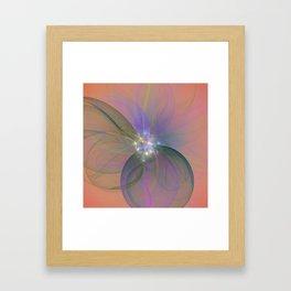 Fairy Blossom Fractal Framed Art Print