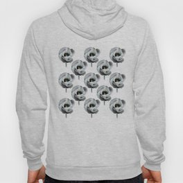 Abstracted tulips pattern Hoody
