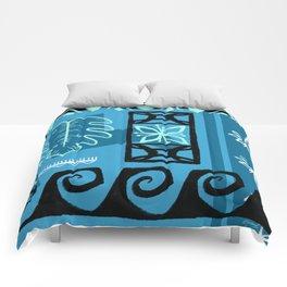Hawaiian Pattern #1 - aqua! Comforters