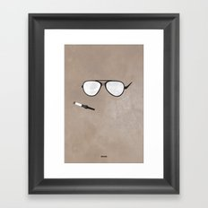 Hunter S. Minimal Framed Art Print