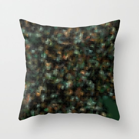 Chameleonic Written Circles - Colours from KARMA CHAMELEON 3 by Catspaws Throw Pillow