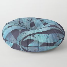 Watercolor Ferns Floor Pillow