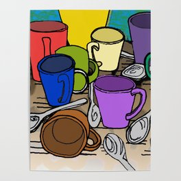 Cups and Spoons Poster