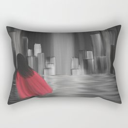 Girl With A Red Cape Rectangular Pillow