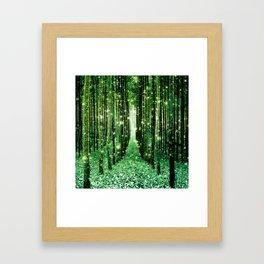Magical Forest Green Elegance Framed Art Print