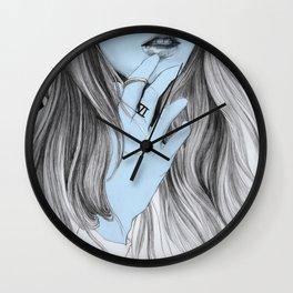 Seven blues  Wall Clock