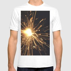 i see sparks Mens Fitted Tee MEDIUM White