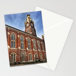 First Lutheran Church Clock Tower in Moline, Illinois Stationery Cards