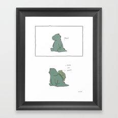 Do not attempt to slide down dinosaur Framed Art Print