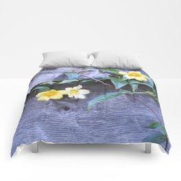 petite yellow flowers Comforters