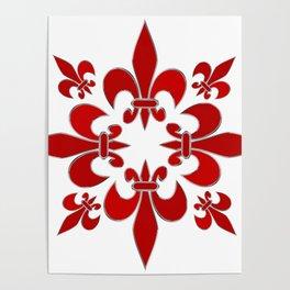 Fleur de Lis pattern Poster
