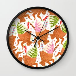 Taiyaki Mermaids Wall Clock