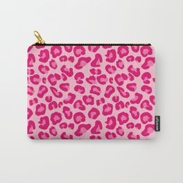 Leopard Print in Pastel Pink, Hot Pink and Fuchsia Carry-All Pouch