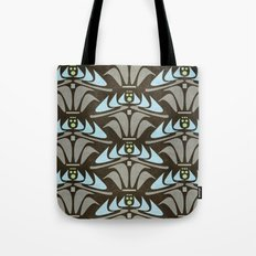 Blue - Arts and Crafts Inspired Stylized Floral Pattern - Susan Weller Tote Bag