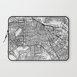 Amsterdam White Map Laptop Sleeve